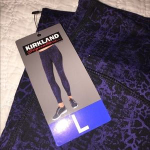 e45c218a4c4 Kirkland Signature Pants | Costco Kirkland Nwt Pink Black Leggings ...